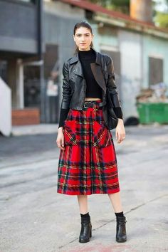 leather and plaids