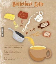 How to make butterbeer from Harry Potter. You have to try this at Harry Potter themed parties, butterbeer is probably the tastiest drink in the world. Harry Potter Navidad, Harry Potter Weihnachten, Cumpleaños Harry Potter, Harry Potter Snacks, Harry Potter Marathon, Harry Potter Baking Recipes, Harry Potter Butterbeer, Harry Potter Cocktails, How To Make Butterbeer
