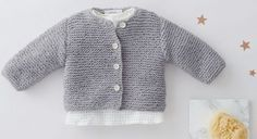 Crochet baby cardigan tricot 37 Ideas for 2019 Cardigan Bebe, Crochet Baby Cardigan, Crochet Baby Clothes, Baby Knitting Patterns, Knitting Ideas, Crochet For Boys, Knitting For Kids, Boy Crochet, Tricot Baby