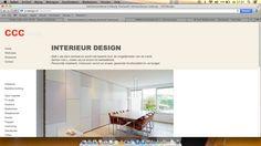 Cccdesign - Deze website is sterk omdat je in een overzicht kan zien wat het bedrijf te bieden heeft.