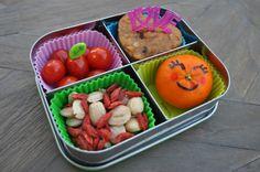 Bentoriffic muffin & smiley mandarin snack bento in @LunchBots