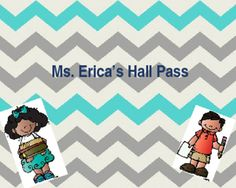 Adorable and FREE Editable Hall Passes for the classroom!