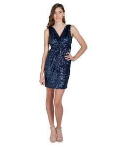 2016 Navy Blue Sequins Sparkly Short Mini Homecoming Dresses V Neck Sleeveless Sheath Girls Prom Party Dresses For Cheap Strapless Cocktail Dresses, Sequin Cocktail Dress, Prom Party Dresses, Homecoming Dresses, Bridesmaid Dresses, Sparkly Shorts, Stylish Dresses, Formal Dresses, Prom Girl