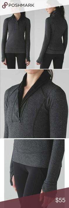 Lululemon Think Fast Half Zip Pullover Herringbone I am selling my Lululemon think fast half zip pullover in the popular herringbone print,  Size 10 - size dot confirmed. Like new - worn 3x for casual wear, never worked out in. New in store is 98 + tax. Price is firm   No trades! No pilling, holes, stains. Pet free & smoke free home. Feel free to ask questions! lululemon athletica Tops