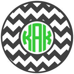 Chevron Circle Monogram Decal by VinylGifts on Etsy, $4.00