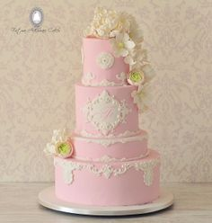 Close-up Beautiful Wedding Cakes, Beautiful Cakes, Amazing Cakes, Beautiful Desserts, Friends Cake, Cool Cake Designs, Sweet 16 Cakes, Cake Pictures, Cake Pics
