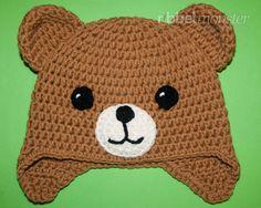 "Teddy Mütze häkeln ""Kuno"" - New Ideas Crochet Baby Poncho, Bonnet Crochet, Crochet Teddy, Crochet Mittens, Crochet Animal Hats, Knitted Hats Kids, Baby Boy Knitting Patterns, Newborn Crochet Patterns, Crochet Crafts"