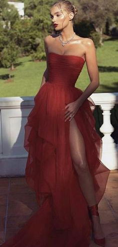 Elsa Hosk 2018 Cannes Film Festival Red Carpet Red Prom Dresses, The Most Jaw-Droppingly Beautiful Dresses From the Cannes Film Festival Strapless Prom Dresses, Tulle Prom Dress, Dress Up, Dress Party, Dress Lace, Wedding Dresses, Red Dress Outfit Wedding, Dress Night, Blazer Dress