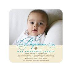 Christening Invitations Card for boy