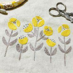 完成✨ かわいい . #刺繍 #ハンドメイド #手芸 #刺繍部 #樋口愉美子 #2色で楽しむ刺繍生活 #embroidery #handmaid #sewing