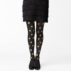 gold spotted legs from kate spade