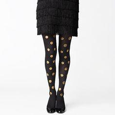 gold dot tights / kate spade