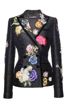 Flower Jacquard Double Breasted Jacket by DOLCE & GABBANA for Preorder on Moda Operandi