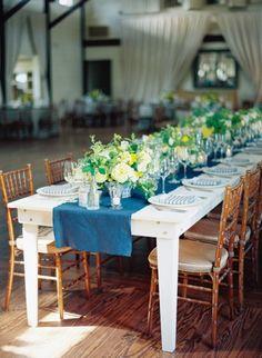 Rustic, summery reception: http://www.stylemepretty.com/2014/09/11/preppy-spring-charlottesville-wedding/ | Photography: Elisa Bricker - http://www.elisabricker.com/