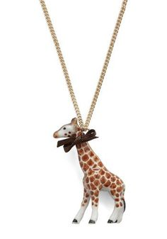 .giraffe necklace.
