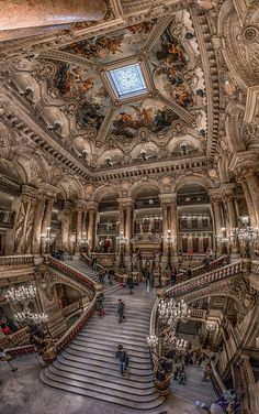 Plafond de l'Opéra Garnier. Paris, France otherwise known as the set used in Phantom of the Opera