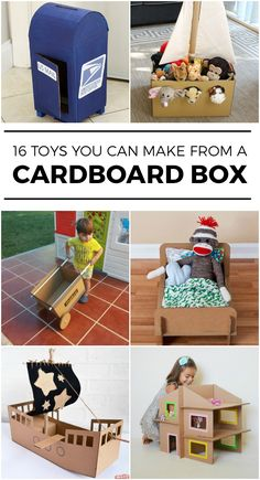 16 Toys You Can Make with an Empty Cardboard Box #Toys