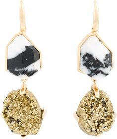 Christopher Kane stone drop earrings