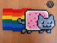 Nyan Cat - Hama beads by floxido on DeviantArt