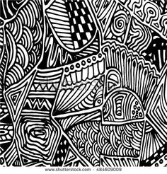 Sketchy vector hand drawn backgrounds