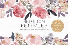 Heirloom Peonies by SmallHouseBigPony on Creative Market
