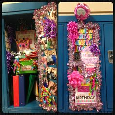 Girl Birthday Locker Birthday Locker School Birthday Idea Decorate Your Locker For Birthdays Birthday Locker Decorations Decorate Your Best Friends Locker With Balloons And Post Its With Locker Door For Birthday With Images Birthday Locker… School Birthday, Bff Birthday, Birthday Presents, Birthday Ideas, Cute Locker Ideas, Diy Locker, Girls Locker Ideas, Locker Stuff, Locker Decorations