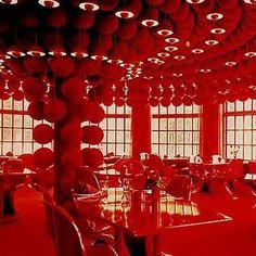 Varna Palace, Restaurant Varna, Århus. Design 1971 by Verner Panton (Denmark, 1926-1998).