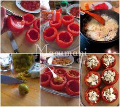 Receta de tomates rellenos con queso azúl  al horno Lasagna, Tapas, Cooking Recipes, Meals, Dinner, Vegetables, Food, Tomatoes, Gluten