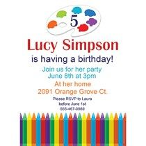 Colorful Crayons Invitations