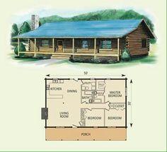 Three bdrm one story log cabin