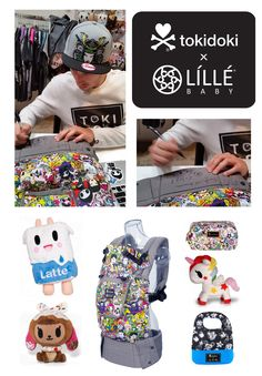 Epic giveaway!  One of kind COMPLETE LILLEbaby carriers, personally signed by tokidoki artist and creator Simone Legno! #babywearing #toki #giveaway