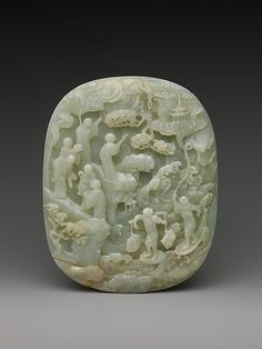 Table Screen with Landscape Scene Period:  Qing dynasty (1644–1911) Date:18th–19th century Culture :  China Medium: Jade (nephrite)