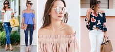 10 outfits modernos con blusas campesinas que te encantarán - Mujer de 10 Outfits Con Camisa, Fashion Outfits, Womens Fashion, Casual Chic, Off Shoulder Blouse, Hair Beauty, Nude, Street Style, My Style