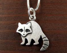 Tiny raccoon earrings