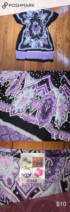 Black blue and purple dress Never worn, no tags Dresses