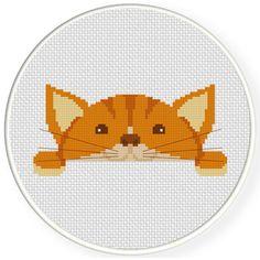Cute Meow Cross Stitch Illustration