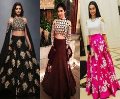 cold-shoulder-lehenga-blouses – Indian Fashion Mantra