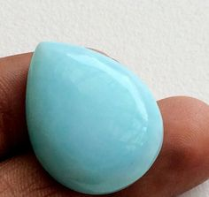 Blue Opal Pear Cabochon Huge Plain Pear Opal by gemsforjewels