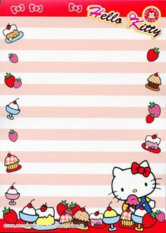 Hello Kitty Sweet Dessert Memo Pad: I'm really into kawaii stationary right now and this is one of the cutest Hello Kitty memo pads I've seen.