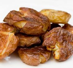 My boyfriend loves the salt and vinegar potato chips--so he really loved these salt and vinegar roasted potatoes.