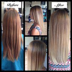 #demaj #demajsalon #eriesalon #coloradosalon #longhair #ombre #beautifulhair #healthyhair #wellahair #hair #highlights #colormelt #blonde