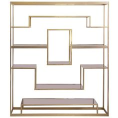 Large Romeo Rega Brass Shelf or Etagere | From a unique collection of antique and modern shelves at https://www.1stdibs.com/furniture/storage-case-pieces/shelves/