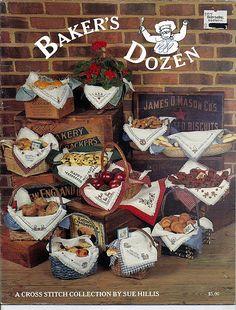 Baker's Doze / Counted Cross Stitch Bread Cloth Pattern Book by grammysyarngarden on Etsy