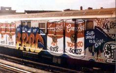 Fab 5 Freddy subway graffiti a la Warhol