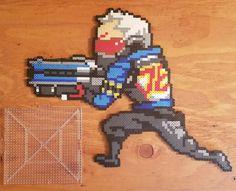 Pixel Soldier: 76 by KustomKandiPerlers on Etsy