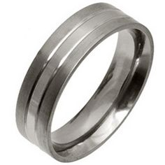 Ti2 Low Profile 6mm Stripe Titanium Ring