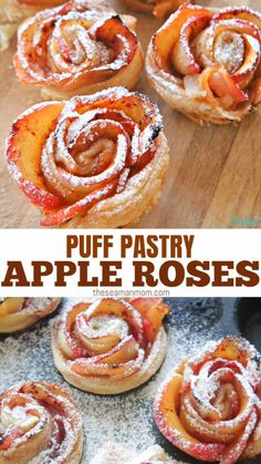 apfelrosen bltterteig These gorgeous mini apple rose tarts are the bomb! Super eye catching, this apple roses recipe is probably one of the easiest recipes youll ever make! Easy Pastry Recipes, Apple Recipes Easy, Apple Dessert Recipes, Easy Cookie Recipes, Baking Recipes, Easter Dinner Recipes, Pastries Recipes, Puff Pastry Recipes Savory, Easy Tart Recipes