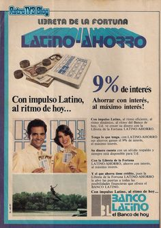 Banco Latino. Ad from 1970s.