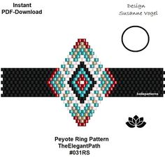 DETAILS: TheElegantPath #031RS This pattern is also available as an earring/pendant brick-pattern - just click here: