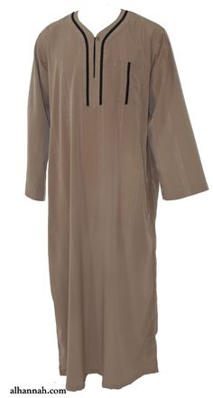Ikaf Moroccan Style Dishdasha with Trim me691 Islamic Clothing 087122be0